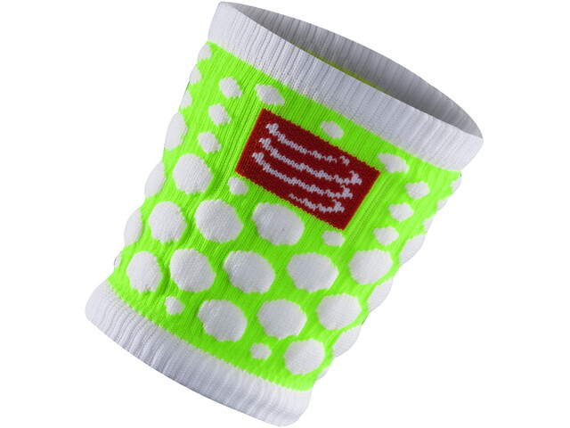 Compressport 3D Dots Sweatbands fluo green